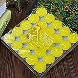 seguryy juego de 25velas Bulk flotante aroma sin humo romántica velas amarillo