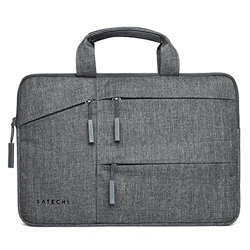 Satechi wasserfeste Laptop Tragetasche mit Seitentaschen kompatibel mit MacBook, Microsoft Surface Pro, Samsung Chromebook und mehr (13 Inch) - Touch Hp Ladegerät Screen