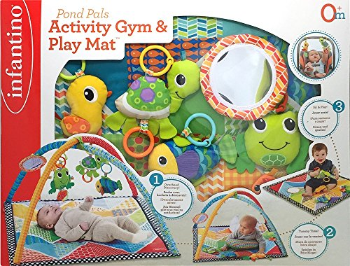 Infantino Pond Pals Twist and Fold Activity Gym and Play Mat (Multicolor)
