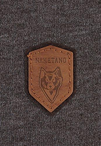 Naketano Male T-Shirt Gelinde Gesagt Anthracite Melange