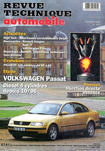 Descargar Libro REVUE TECHNIQUE AUTOMOBILE N° 625 VOLKSWAGEN PASSAT DIESEL DEPUIS 10/96 de E.T.A.I.
