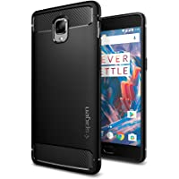 Spigen Rugged Armor Back Cover Case Designed for OnePlus 3T / 3 - Matte Black