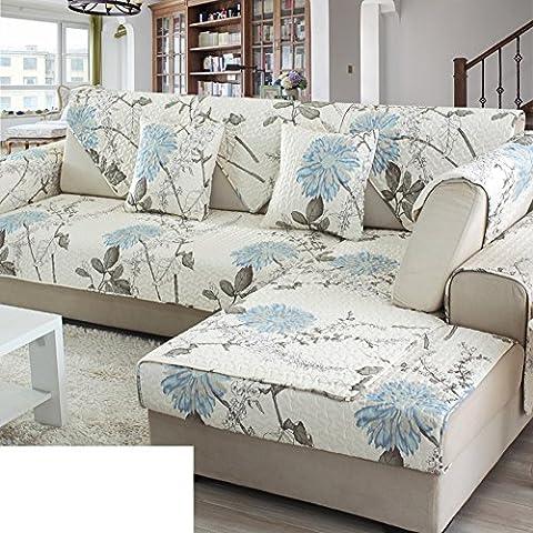 Vier sofakissen,stoff baumwolle sofa cover covered handtuch cover,pure non-slip einfache moderne pastorale wohnzimmer kombination kissen-A 110x210cm(43x83inch)