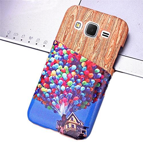 Voguecase® für Apple iPhone 6/6s 4,7 hülle,2 in 1 (Harte Rückseite) Hybrid Hülle Schutzhülle Case Cover (Frühling) + Gratis Universal Eingabestift Kartenslot/Ballone und Haus