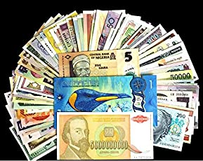 GOLD MINT 30 Different Foreign World Wide Rare Legal Currency Notes (Multicolour)