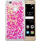"Coque Huawei P9 Lite Silicone Nnopbeclik® Paillettes Briller Style Backcover Doux Soft Transparente Housse pour Huawei P9 Lite Coque Silicone ""Huawei G9 Lite"" (5.2 Pouce) Antichoc Protection Antiglisse Anti-Scratch Etui ""NOT FOR P9"" - [Rose3]"