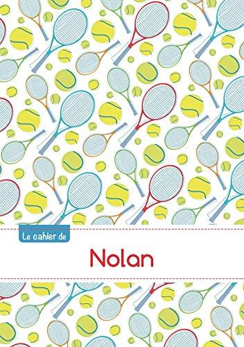 CAHIER NOLAN BLANC,96P,A5 TENNIS