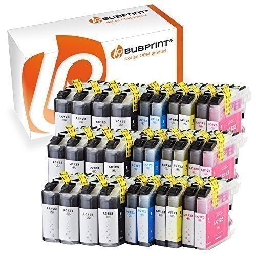 Bubprint 30er Set Druckerpatronen kompatibel für Brother MFC-J4410DW MFC-J470DW DCP-J4110DW Drucker LC-123 LC123 mit Chip