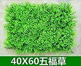 SL&ZX Kunststoff Rasen,Kunstrasen-Anlage Grüne Wand Indoor Balkon Dekoration Gefälschte Kunstrasen Kunstrasen Mesh Schneezaun Gartenzaun-H 40x60cm(15.7x23.6inch)