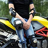 #7: AutoSun Pro Stainless Steel Knee Elbow Guards Sport Motorcycle Racing Riding Gear Set Of 4 Pcs