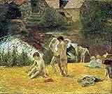 Das Museum Outlet–Baden in die Mühle von Bois d 'Amour von Gauguin–Leinwand Print Online kaufen (101,6x 127cm)