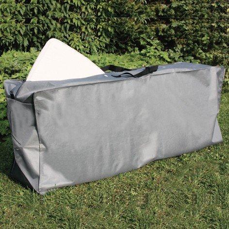 Euro Kissenbezüge Grau (Consul Garden 542334 Tragetasche für Auflagen anthrazit Polyestergewebe Oxford 600 D / L 130 x B 32 x H 50 cm)