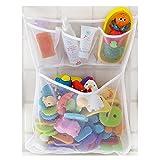 IHRKleid Filet de rangement en mailles fines jouets de bain bébé Pochettes de rangement murales avec ventouses
