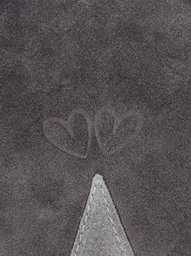 Handtasche / Ledertasche für Damen von der Marke Zwillingsherz d.grau/hellgrau