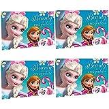 Unbekannt 4 Stück Disney Frozen Beauty is Everywhere Waschlappen 40 x 31cm