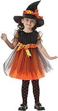 OverDose Damen Niedlichen Kleinkind Kinder Baby Mädchen Halloween Kleidung Kostüm Kleid Party Kleider + Hut Outfit Cosplay Tanz Rave Für Festival