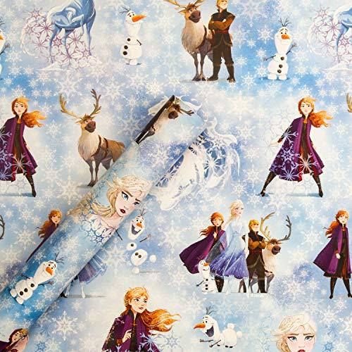 Hallmark Weihnachts-Geschenkpapier von Hallmark - Disney Die Eiskönigin II Design, 4 m Rolle