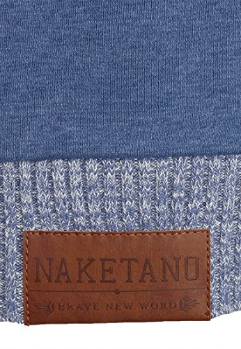 Naketano Male Zipped Jacket Muzzy Spitzbubi III Blue Melange