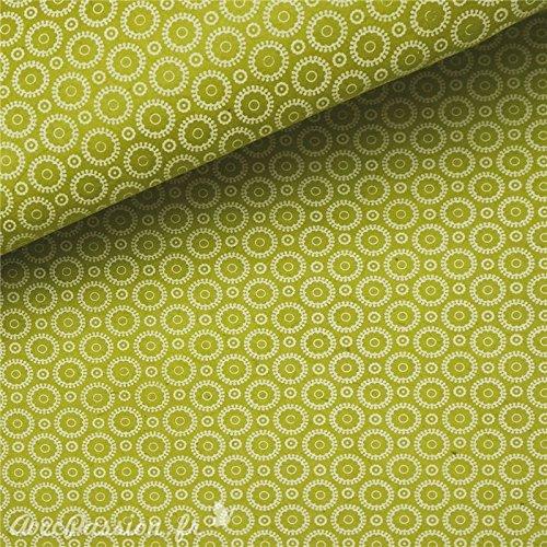 Renkalik renkalikcnret15950x 75cm Säure Grün/Weiß Retro Nepalesische Papier Bedruckt, T Preisvergleich
