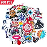 Stickers, 200pcs Different Waterproof Vinyl Stickers for Car, Laptop, Decal, Skateboard, Bumper, Hoverboard, Luggage, Trunk, Cup - Best Gifts for DIY decoration