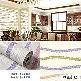 lsaiyy Chambre à Coucher Papier Peint PVC Salon dortoir imperméable à l'eau...