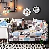 HYSENM 1/2/3/4 Sitzer Sofabezug Sofaschutz Sofaüberwurf Polyesterfasern weich elastisch farbecht, Beige 2 Sitzer 140-185cm