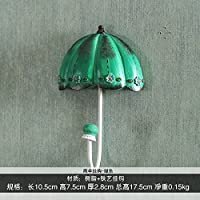 FuRongHuang The Living Room Decoration Umbrella Hook Key Hook Hook Wall Princess Dress Coat Hook,Blue Bottom Umbrella Hooks