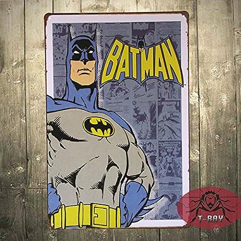 Batman signos de estaño Don Kid's room pintura de pared Vintage poster de estaño, barra, decoración del hogar, el hombre Cueva