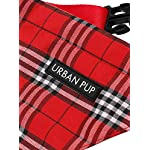 "UrbanPup Red Checked Tartan Bandana (Small - Dog Neck Circumference, adjusts: 8"" to 11"" / 20cm to 28cm) 6"