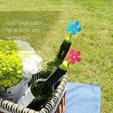 Weinverschlusse,Lnkey Silikon Flaschenverschluss Set Weinflaschenverschlus Wein Stopfen Passen auf Jede Flasche Deckel,