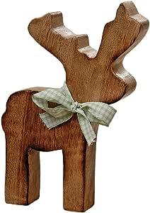 Amazon.de: Figur Rentier Gustav aus Holz - Weihnachtsdeko