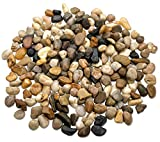 2 Pounds Small Decorative River Rock Stones - Natural Polished Mixed Color Stones Use In Glassware, Like Vases, Aquariums And Terrariums To Enhance The Appearance, - Katzco by Katzco