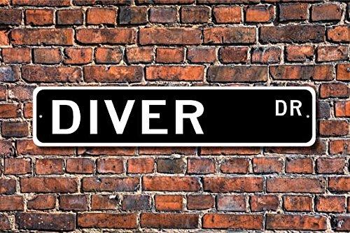 METALSIGN Metall Schild Diver, Diver Geschenk, Diver Zeichen, Geschenk für Taucher, Sport, Schwimmen, Pool, Tauchen Geschenk, Scuba Diver, Custom Street Zeichen, Qualität 10,2x 45,7cm (Scuba Cave Diver)