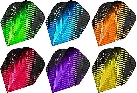 Fléchettes HARROWS Sonic métallique 100microns vols–Choisir votre couleur et Nombre de jeux, jaune, 1 Set