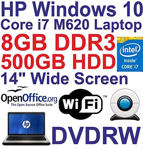 Windows 7 HP EliteBook 8440P Core i7 Laptop - 8GB DDR3 - 500GB - DVDRW - Wi-Fi