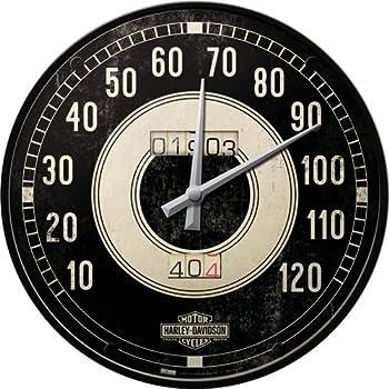 Nostalgic-Art 40361135108 Orologio Harley-Davidson Tacho, Acciaio, Nero, 31 x 31 x 6 cm