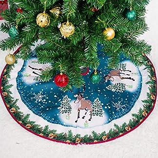 JCT-Weihnachtsbaum-Rcke-2018-grne-Kunstpelz-Baum-Rock-Weihnachtsbaum-Ornamente-Plsch-mercerisiert-Samt-fr-Weihnachtsschmuck