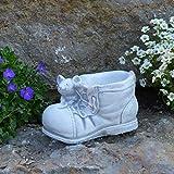 gartendekoparadies.de Massiver Blumentopf Pflanztopf Stiefel mit Maus Plfanzgefäß aus Steinguss frostfest