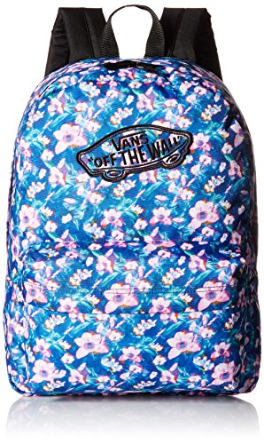 VansG Realm Backpack - mochila escolar Mujer , azul (Bleu (Blurred Floral)), talla única