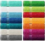 Lashuma Handtuch - Frotteeserie Linz - in 14 Farben und 6 Größen, Farbe: aquamarin blau, Handtuch 50x100 cm