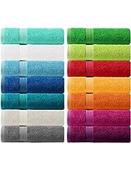 Lashuma Handtuch - Frotteeserie Linz - in 14 Farben und 6 Größen, Farbe: apfel grün, Handtuch 50x100 cm