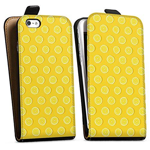 Apple iPhone X Silikon Hülle Case Schutzhülle Zitronen Sommer Früchte Downflip Tasche schwarz