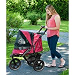 Pet Gear AT3 No-Zip Stroller, Rugged Red 9