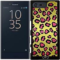 Custodia per Sony Xperia X Compact - Glitters Rosa, Modello Del Leopardo by Tees2go