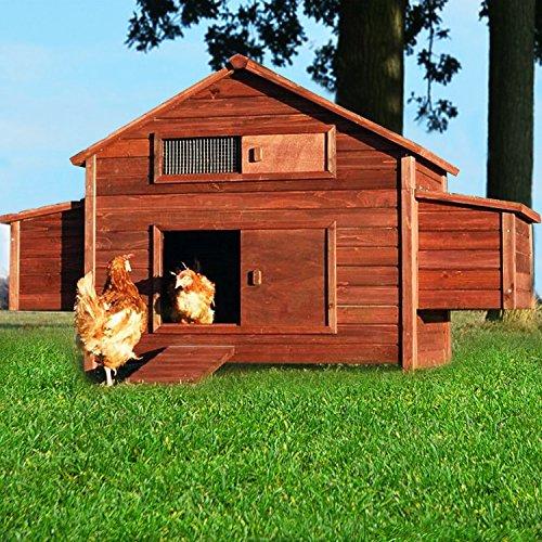 zooprimus Hühnerstall 20 Geflügelhaus - FREILANDFARM - Stall für Außenbereich (für Kleintiere: Hühner, Geflügel, Vögel, Enten usw.)