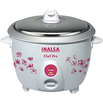 Inalsa Chefpro 650 Watt Rice Cooker in 1.8-Litre (White)