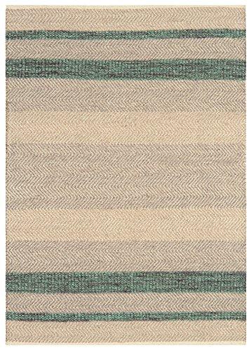 KADIMA DESIGN Moderner Designer Teppich ISAR Rug 120x170cm Emerald Smaragd Grün 50% Wolle 35% Baumwolle 15% Viskose -