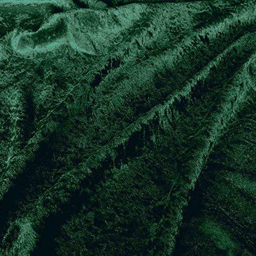 Kostüm Einen Weihnachtsbaum Sie Nähen - TOLKO Dekostoff - Pannesamt Meterware zum Nähen für Elastische Hussen, Kissen, Weihnachtsdeko (Dunkel-Grün)