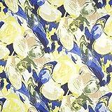 Fabulous Fabrics Chiffon Abstrakt – grün/blau —