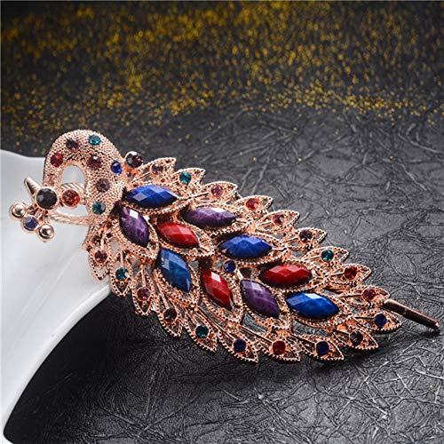 spange Hochzeit Haarschmuck Geometrische Haargreifer Ornamente Strass Kristall Big Crab Clip Für Frauen Hairwear Geschenk, blau 7 ()